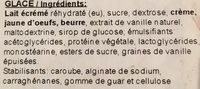 Glace vanille - Ingredients - fr