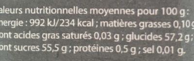 Confiture de Fruits des Bois Bio - Nutrition facts