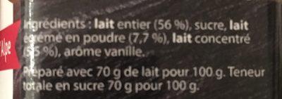 Confiture de Savoie Lait - Ingredients