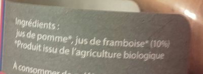 Pur jus pommé framboise bio - Ingredients - fr