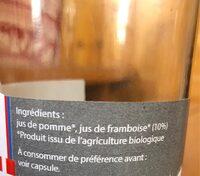 Pur Jus de POMME FRAMBOISE - Ingredients