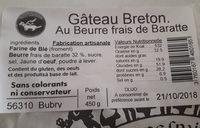 Gâteau Breton - Ingredients