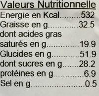 Gâteau Breton - Nutrition facts