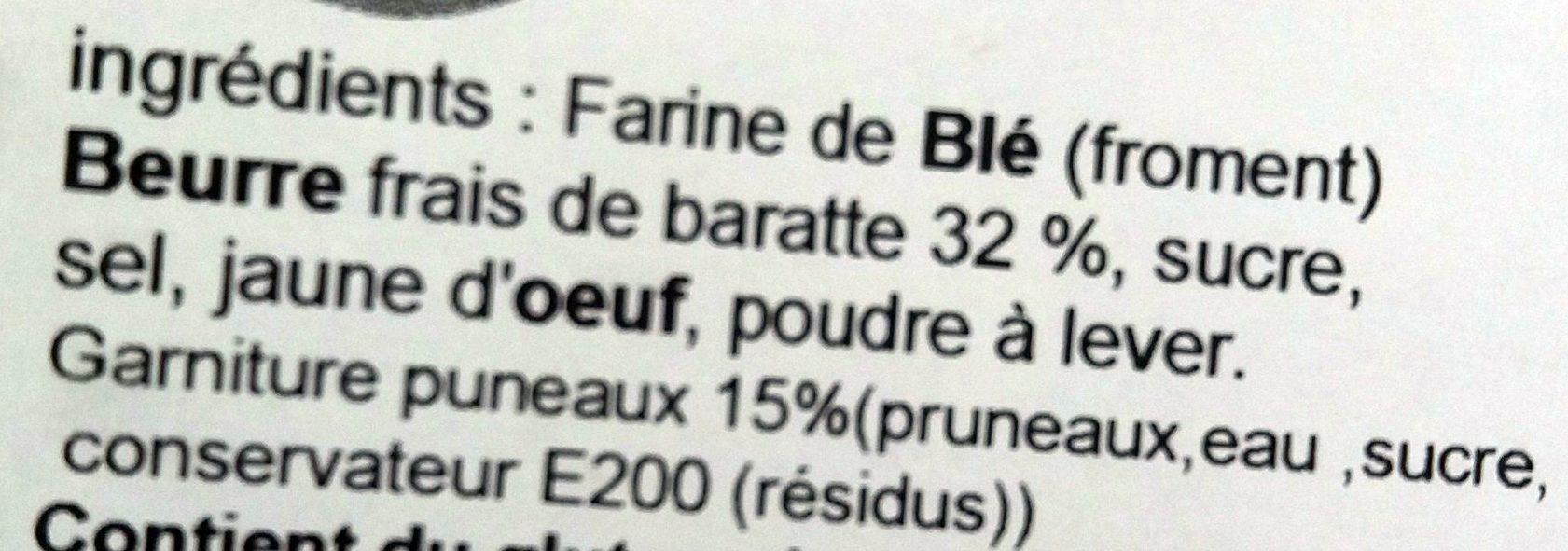 Gâteau Breton Fourré Pruneaux - Ingrédients