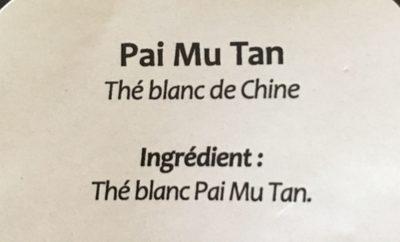 Thé blanc Pai Mu Tan - Ingrediënten - fr