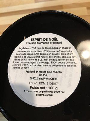 the noir cherry amande - Ingrediënten