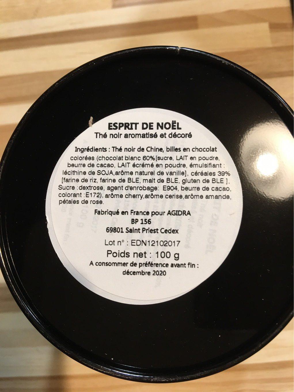 the noir cherry amande - Voedingswaarden
