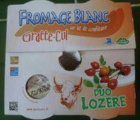 Fromage blanc sur lit de confiture - Produit - fr