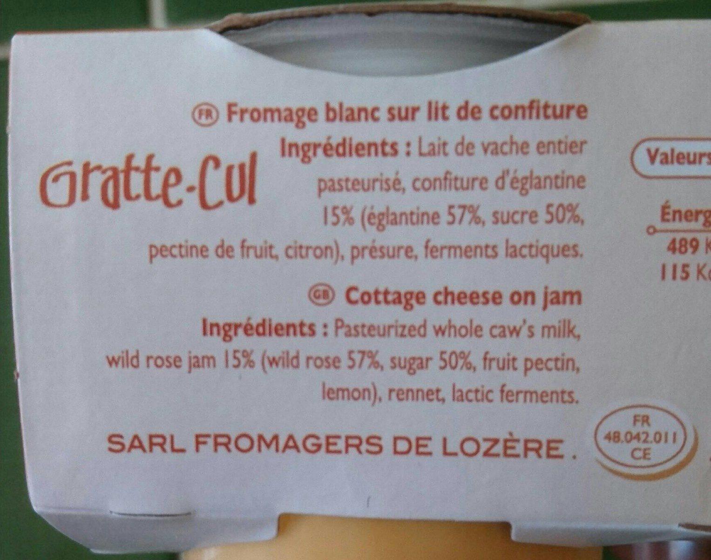 Fromage blanc sur lit de confiture - Ingrédients - fr