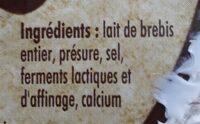 Le Berger de Lozere FROMAGERS DE LOZERE - Ingrediënten