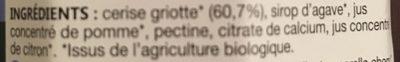Cerise griotte - Ingrédients - fr