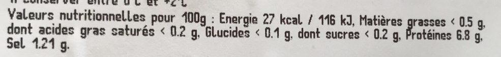 Anneau Encornet Géant Saumurés - Voedingswaarden