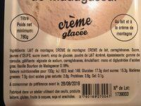 Glace Vanille de Madagascar 1 L - Ingrédients - fr