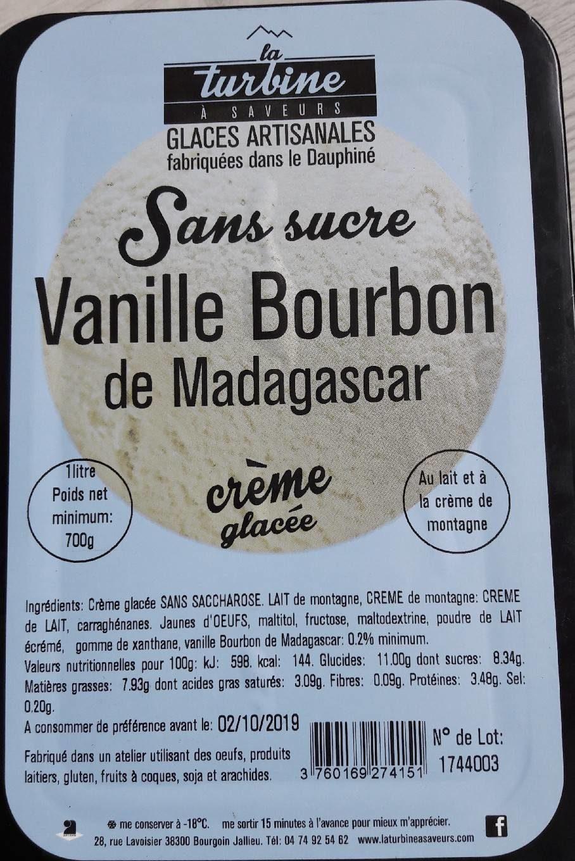 Crème glacée vanille bourbon sans sucre - Produit