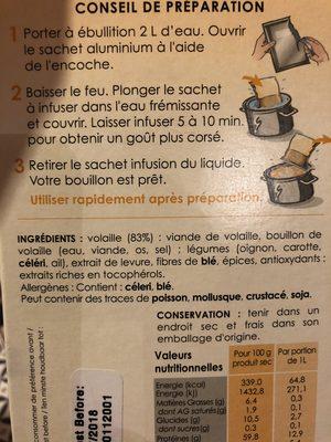 430G Bouillon Volaille Ariake - Ingrédients - fr