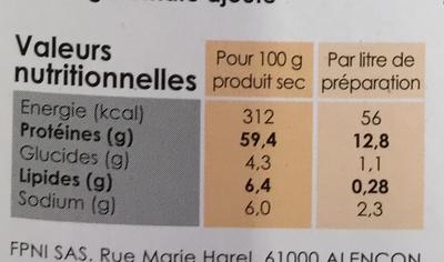 Bouillon de volaille à boire et à cuisiner 100% naturel - Nutrition facts - fr