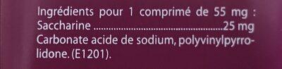 Les authentiques Sucrettes - Ingrédients - fr