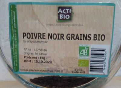 Poivre noir grains bio - Product