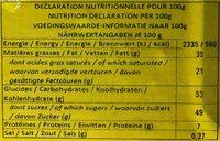 Chocolat au lait - Spéculoos - Voedingswaarden - fr