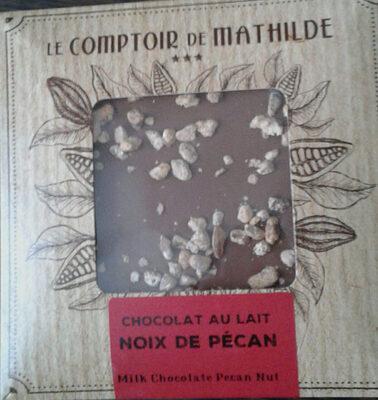 Chocolat Mathilde Carré Lait Noix De Pécan Caramélisés - Produit - fr