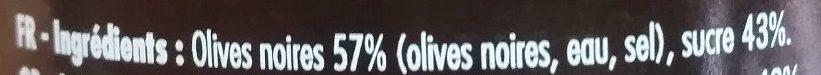 Olives Noires Façon Confiture - Ingrédients - fr