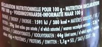 Olives Noires Façon Confiture - Informations nutritionnelles - fr