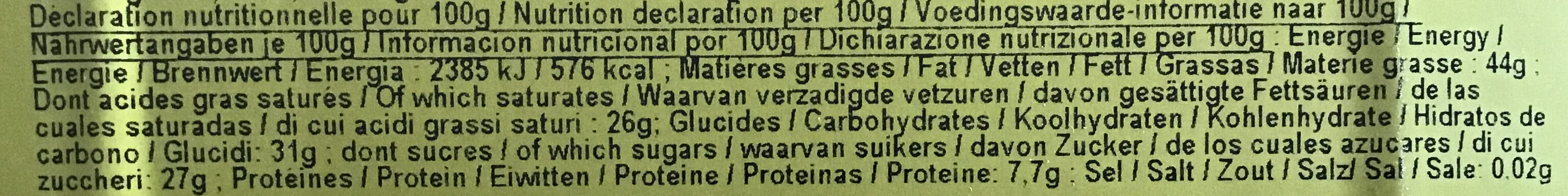 Chocolat Noir 70% cacao - Nutrition facts - fr