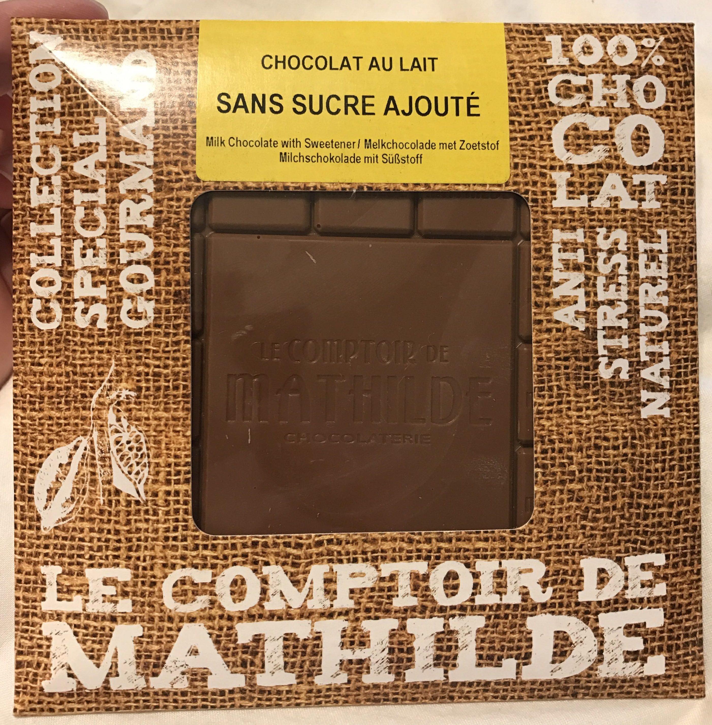 Chocolat au lait sans sucre ajouté - Produit - fr