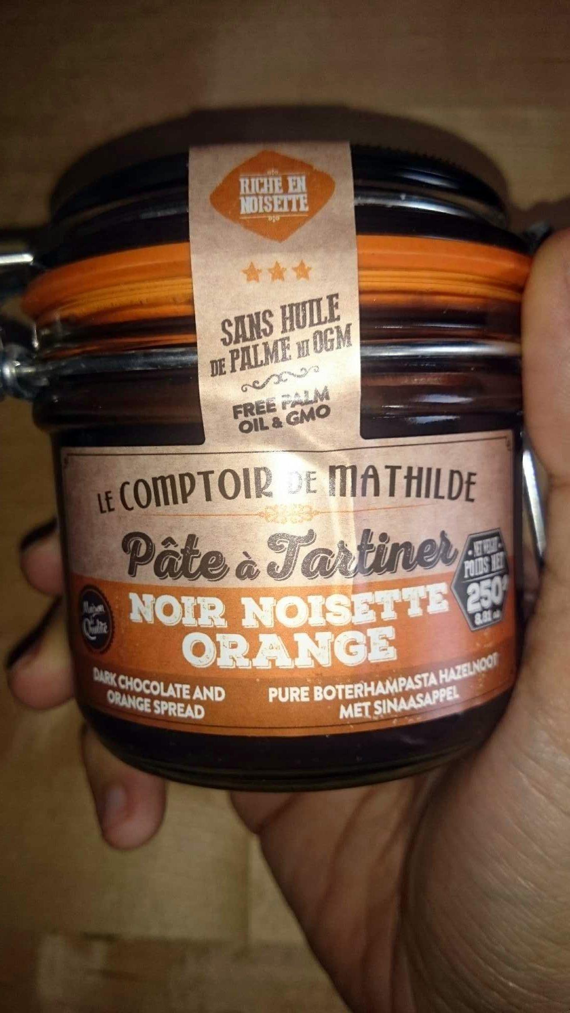 P te tartiner noir noisette orange le comptoir de - Pate a tartiner le comptoir de mathilde ...