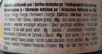 Pâte à tartiner Blanc Noisette - Informations nutritionnelles - fr