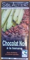 Chocolat Noir à la banane - Product