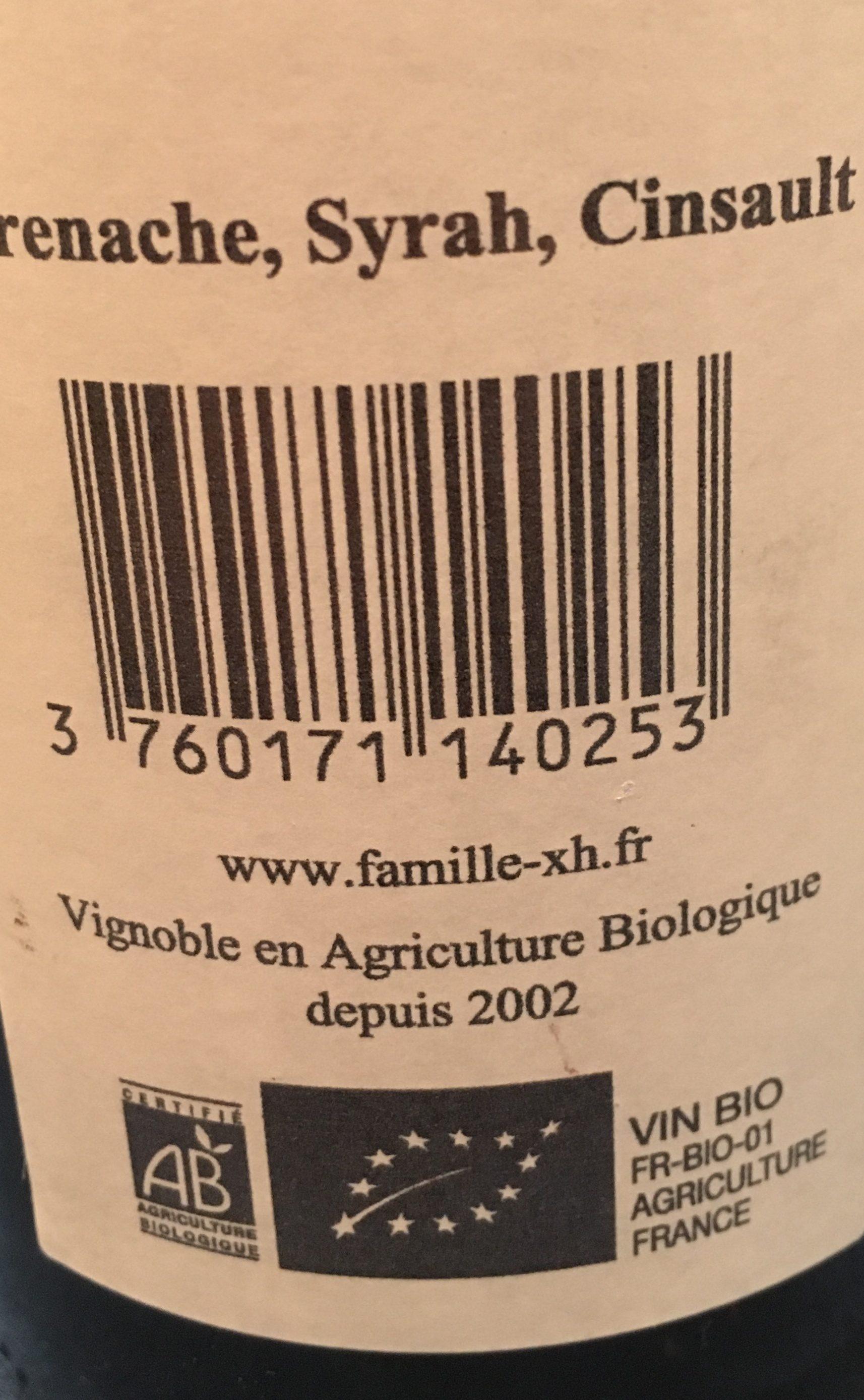 "Vin rouge ""Côtes du Rhone"" - Ingrediënten"