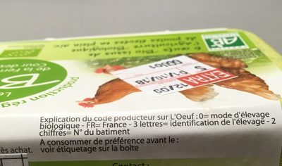 Oeufs bio - Ingrédients - fr