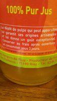 Jus de Pommes de Franche-Comté - Ingrédients - fr
