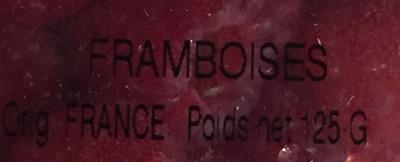 Framboises - Ingrédients - fr