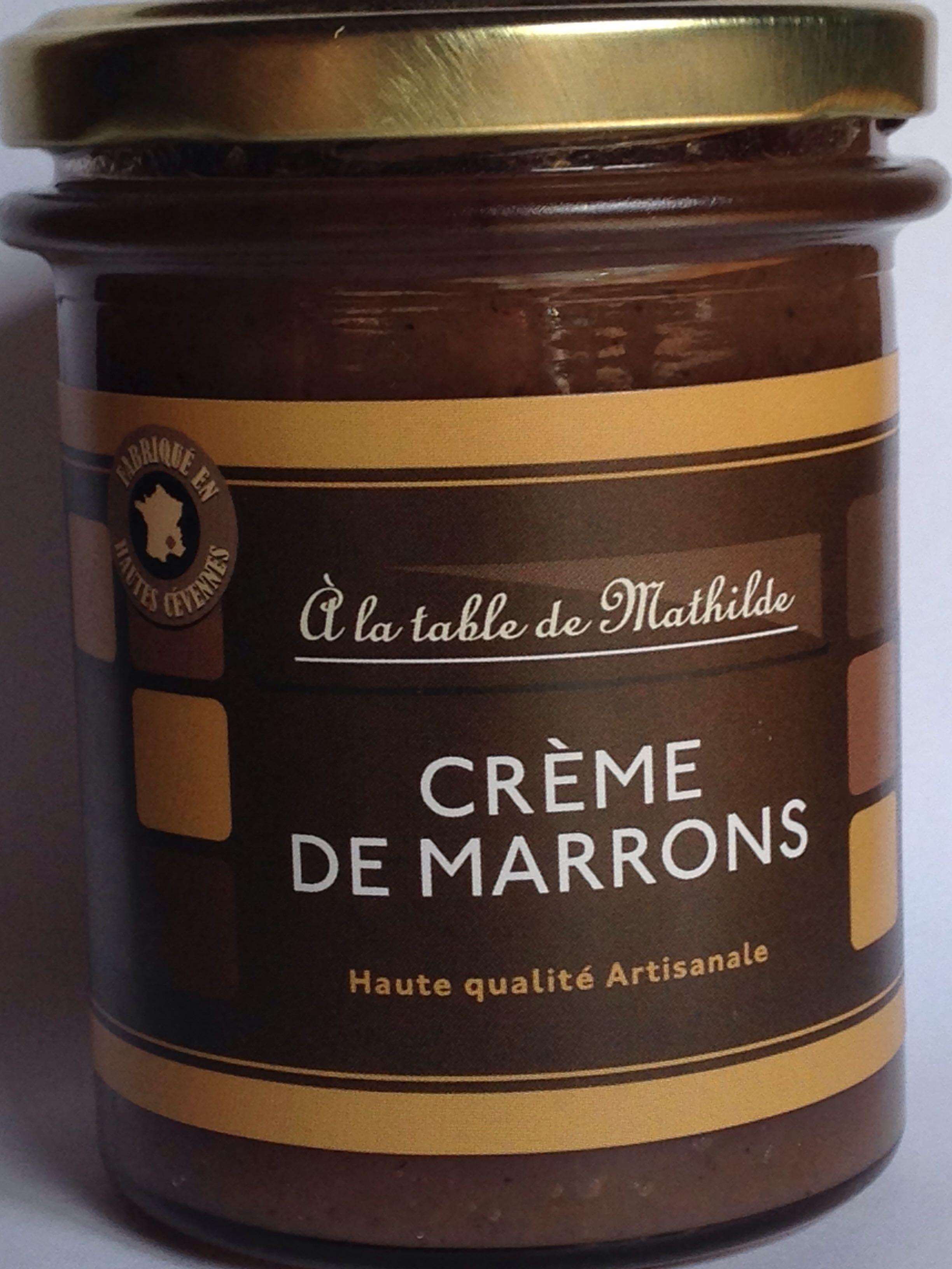 Crème de marrons Haute qualité Artisanale - Produit