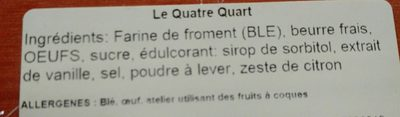 Le Quatre Quart - Ingredients - fr