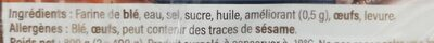 Hallots - Ingrédients - fr