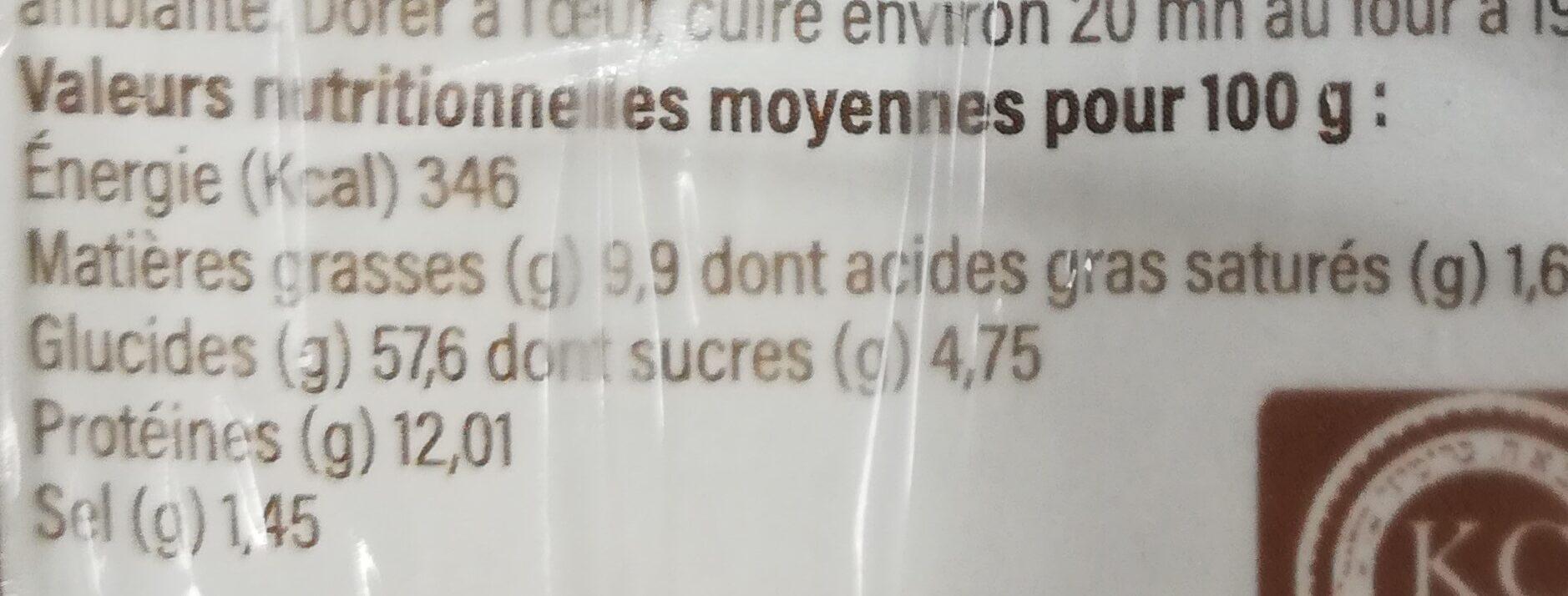 Hallots - Informations nutritionnelles - fr