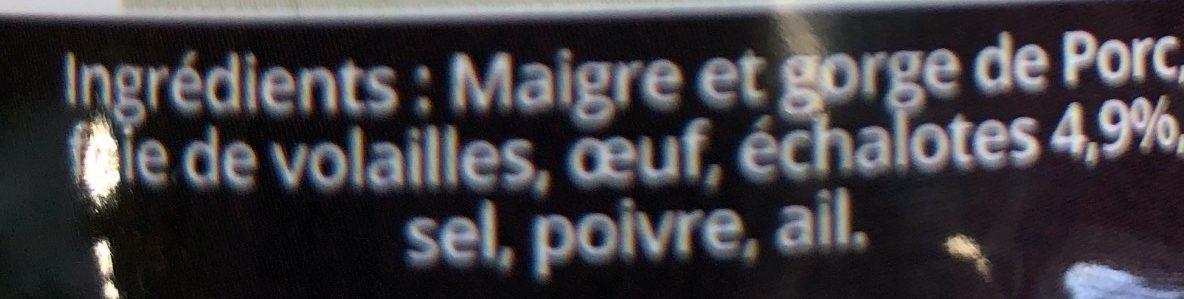 Apero Gourmet aux Echalottes - Ingrédients - fr