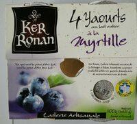 Yaourt au lait entier à la Myrtille - Produit
