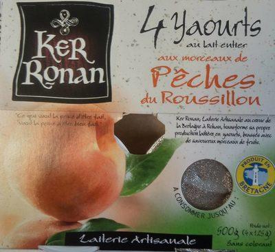 Yaourt au lait entier aux Pêches du Roussillon - Product