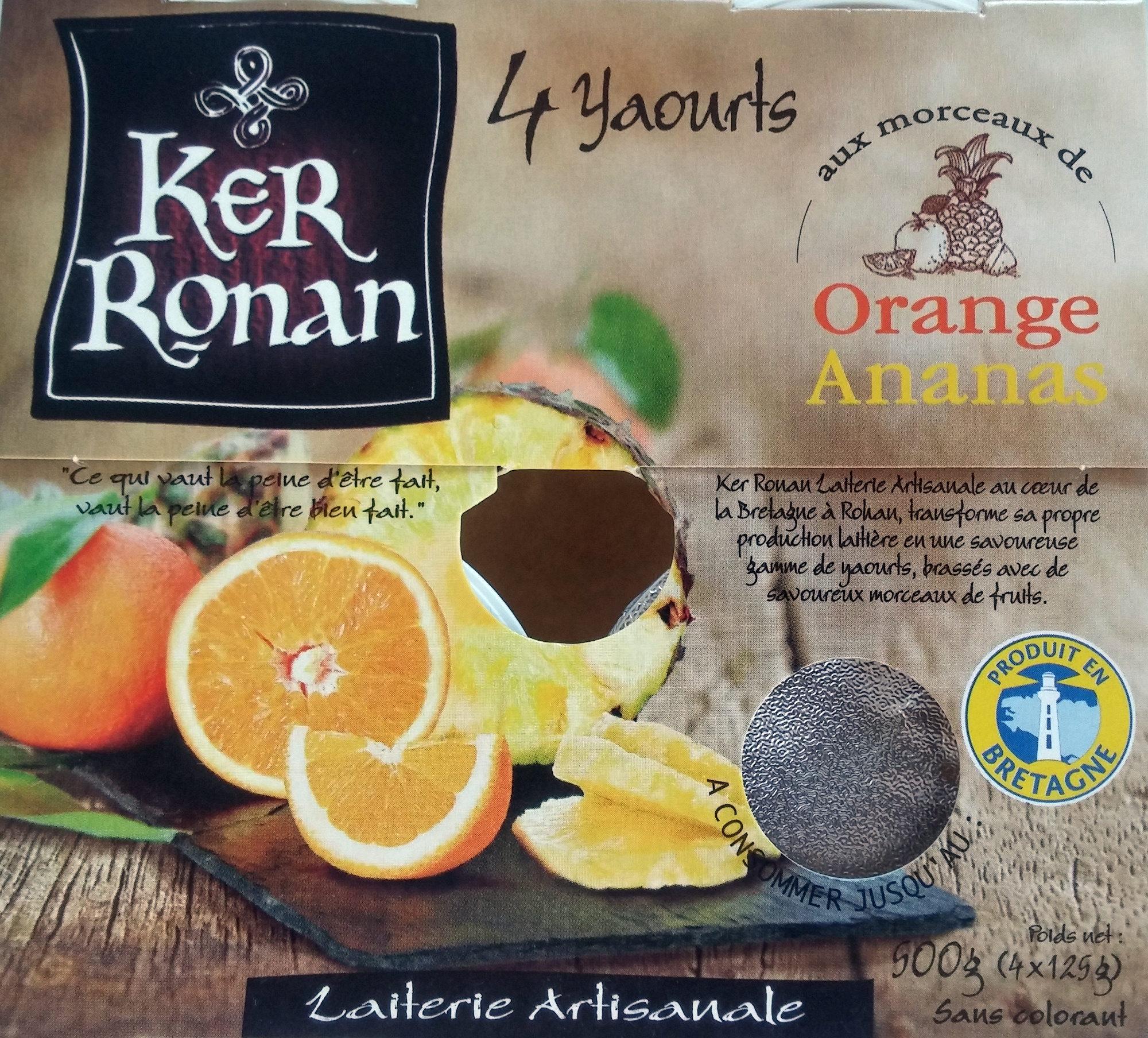 Yaourt Ker Ronan Orange/Ananas - Product - fr