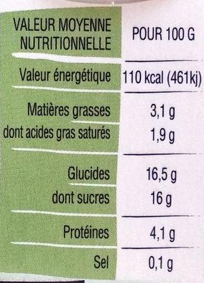 Yaourt Ker Ronan Orange/Ananas - Voedingswaarden - fr