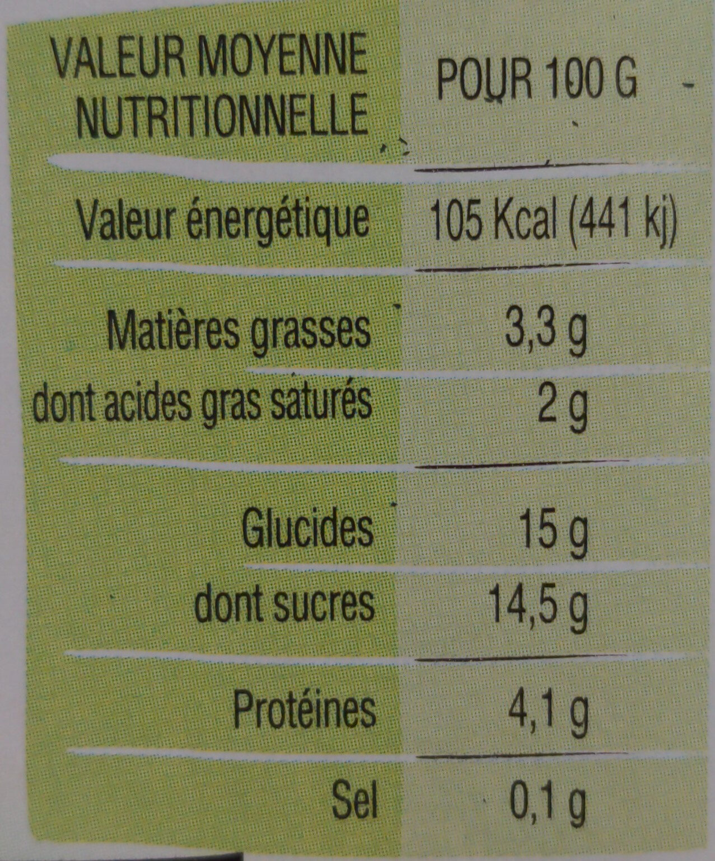 Yaourt Ker Ronan Orange/Ananas - Informations nutritionnelles - fr