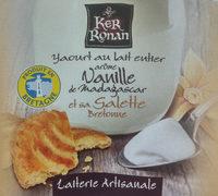 Yaourt au lait entier arôme Vanille de Madagascar et sa galette bretonne - Product