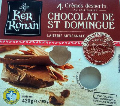 Crème dessert au lait entier Chocolat de St Domingue - Product