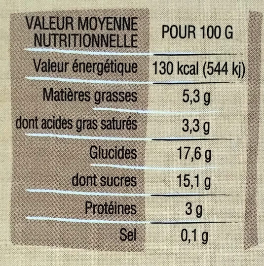 Crème dessert au lait entier Chocolat de St Domingue - Voedigswaarden
