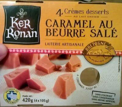 Crème dessert au lait entier, Caramel au beurre salé - Produit - fr
