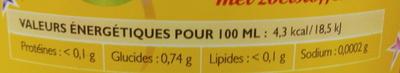 Party' Mouss Orange - Informations nutritionnelles